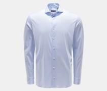 Jersey-Hemd Haifisch-Kragen 'M-Per-L' hellblau/weiß