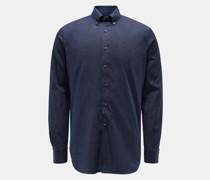 Chambray-Hemd Button-Down-Kragen navy