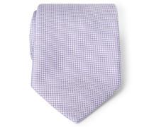 Seidenkrawatte violett gemustert