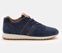 Sneaker 'H383' navy/hellbraun