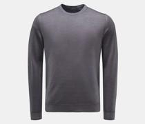 HerrenFeinstrick Rundhals-Pullover graublau