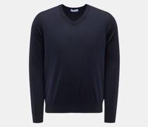 HerrenFeinstrick V-Ausschnitt-Pullover navy