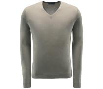 Cashmere V-Neck Pullover 'Enno' oliv