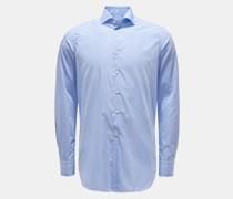 HerrenCasual Hemd Haifisch-Kragen hellblau/weiß