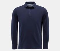 HerrenLongsleeve-Poloshirt navy