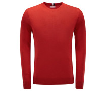 Cashmere R-Neck Pullover rot