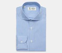 Business Hemd 'Nando' Haifisch-Kragen blau/weiß