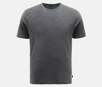 HerrenFrottee Rundhals-T-Shirt dunkelgrau