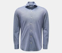 HerrenJersey-Hemd 'Sergio Toronto' Haifisch-Kragen graublau