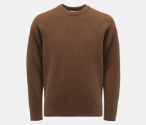 HerrenRundhals-Pullover braun