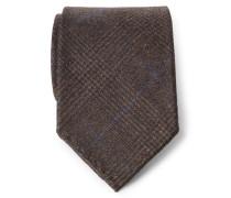 Krawatte dunkelbraun kariert