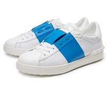 Sneaker weiß/azurblau