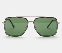 HerrenSonnenbrille 'Lionel' silber/grün