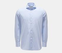 HerrenCasual Hemd 'Felice' Haifisch-Kragen hellblau/weiß