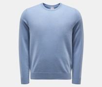 HerrenCashmere Rundhals-Pullover rauchblau