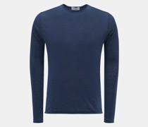 HerrenLeinen Rundhals-Pullover 'Jenkins' dunkelblau