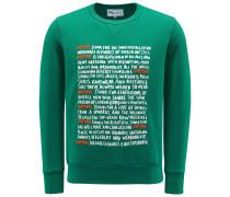 Sweatshirt mit Rundhals 'Aacaste' grün