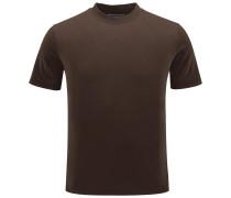 R-Neck T-Shirt dunkelbraun