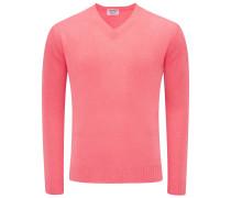 Cashmere V-Neck Pullover koralle