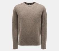 Rundhals-Pullover graubraun