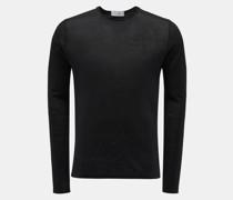HerrenLeinen Rundhals-Pullover 'Jenkins' schwarz