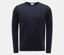 Cashmere Feinstrick-Pullover navy