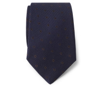 Krawatte navy/braun gemustert