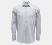 HerrenCasual Hemd Haifisch-Kragen hellgrau/weiß