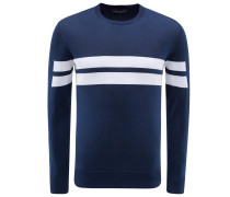 R-Neck Pullover navy gestreift