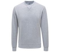 R-Neck Sweatshirt hellgrau
