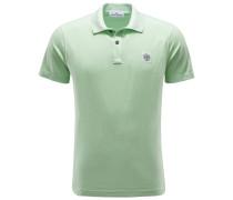Jersey-Poloshirt hellgrün