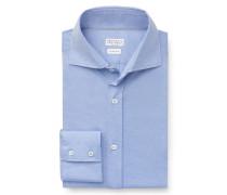 Jersey-Hemd Haifisch-Kragen rauchblau