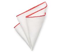 Einstecktuch weiß/rot