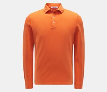 HerrenLongsleeve-Poloshirt orange