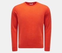 HerrenCashmere Rundhals-Pullover orange