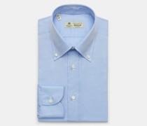 HerrenBusiness Hemd 'Gable' Button-Down-Kragen hellblau