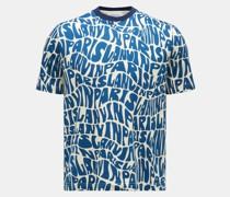 Rundhals-T-Shirt navy/creme