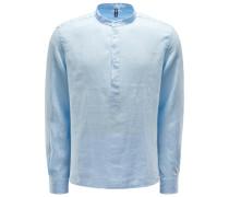 Popover-Hemd Grandad-Kragen pastellblau