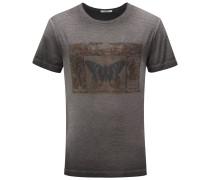 R-Neck T-Shirt dunkelgrau