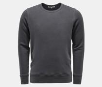 Leinen Rundhals-Sweatshirt 'Edwin' dunkelgrau