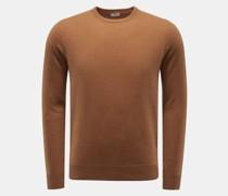 HerrenCashmere Rundhals-Pullover braun