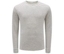 R-Neck Sweatshirt 'Kolja' beige/grau gestreift