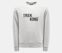 Rundhals-Sweatshirt 'Trek King' hellgrau