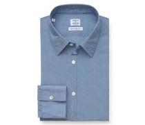 Casual Hemd schmaler Kragen rauchblau