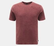 HerrenFrottee Rundhals-T-Shirt bordeaux