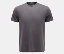 HerrenRundhals-T-Shirt dunkelgrau