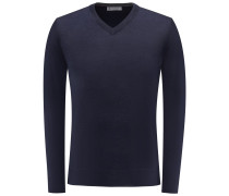 V-Neck Pullover dark navy