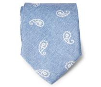 Krawatte rauchblau gemustert