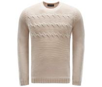 Cashmere R-Neck Pullover 'Lars' beige