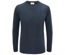 Cashmere R-Neck Pullover dunkelgrün